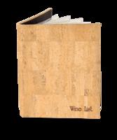 Image Genuine Cork Wine List Cover