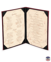 Image Double (2 View) Cowhide Menu Covers