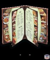 Image Quad Booklet (6 View) Cowhide Menu Covers