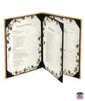 Image Triple Booklet Genuine Cork Menu Covers