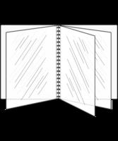 Image Eight View Booklet Pad n' Seal Menu Covers