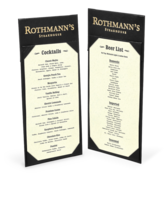 Image Double Sided Bistro Menu Holder