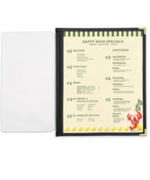 Image Full Width Pocket with Leatherette Binding - 8.5 in. x 14 in.