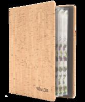 Image Faux-Cork Wine List Cover