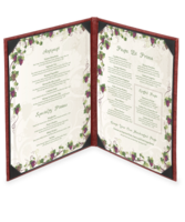 Image Double (Two View) Milano Leather Menu Covers