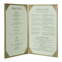 Image Double Brushed Metallic Menu Covers (Two View)