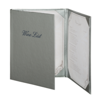 Image Triple Brushed Metallic Menu Covers (Three View)