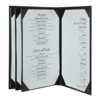 Image Quad Booklet Brushed Metallic Menu Covers (Six View)