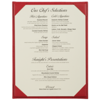 Image Single Summit Linen Menu Covers (One View)