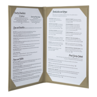 Image Double Summit Linen Menu Covers (Two View)