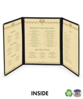 Image Triple (two fold/six view)  Deluxe Cafe Menu Covers (Style #1330)