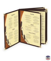 Image Ten View Imitation Leather Menu Covers