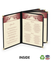 Image Ten View Booklet Deluxe Cafe Menu Covers (Style #1360)