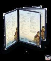 Image Quad Booklet Imitation Leather Menu Covers (Six View)