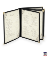 Image Eight View Imitation Leather Menu Covers
