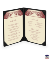Image Double Faux Leather Menu Covers
