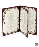 Image Triple Booklet Faux Leather Menu Covers (Four View)