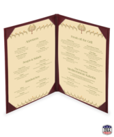 Image Double (Two View) Imitation Leather Menu Covers