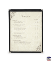 Image Single Deluxe Cafe Menu Covers (Style #1300)