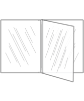 Image Triple Booklet Crystal Clear Menu Covers