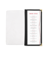 Image Half Width Menu Pocket with Fabric Binding - 4.25 in. x 11 in.