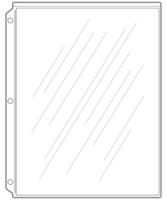 Image Sheet Protectors for Screw-Post Menu Covers
