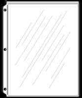 Image Sheet Protectors for Screw-Post Menu Covers