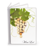 Spiral Bound Wine List Covers