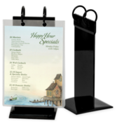 PVC Twin Ring Flip Stand Menu Holders