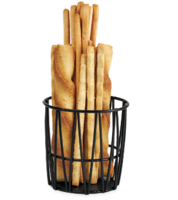 Black Breadstick Basket