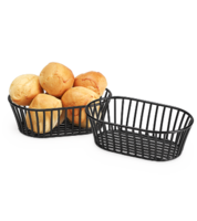 Image Short Black Tuscan Style Oval Basket