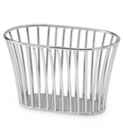 Image Stainless Steel Tuscan Style Stackable Bread Basket