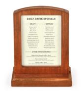 Arched Top Wooden Menu Holder