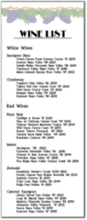 Grapevine Wine Menu Template
